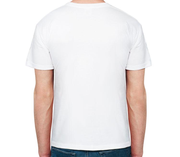 Татуировка дракон мужская футболка с коротким рукавом (цвет: белый, 100% хлопок)