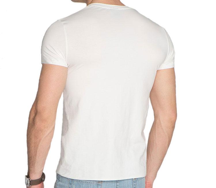 Шелдон мужская футболка с коротким рукавом v-ворот (цвет: белый, 100% хлопок)