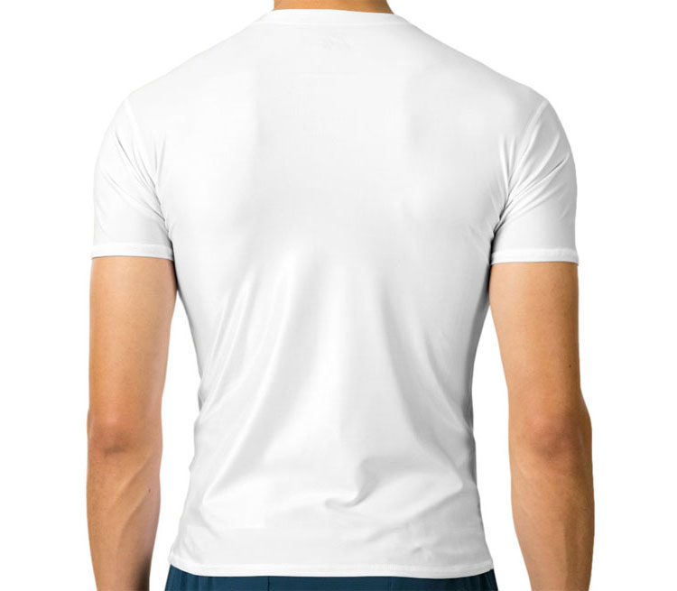 The Walking Dead мужская футболка с коротким рукавом стрейч (цвет: белый, 92% хлопок, 8% лайкра)