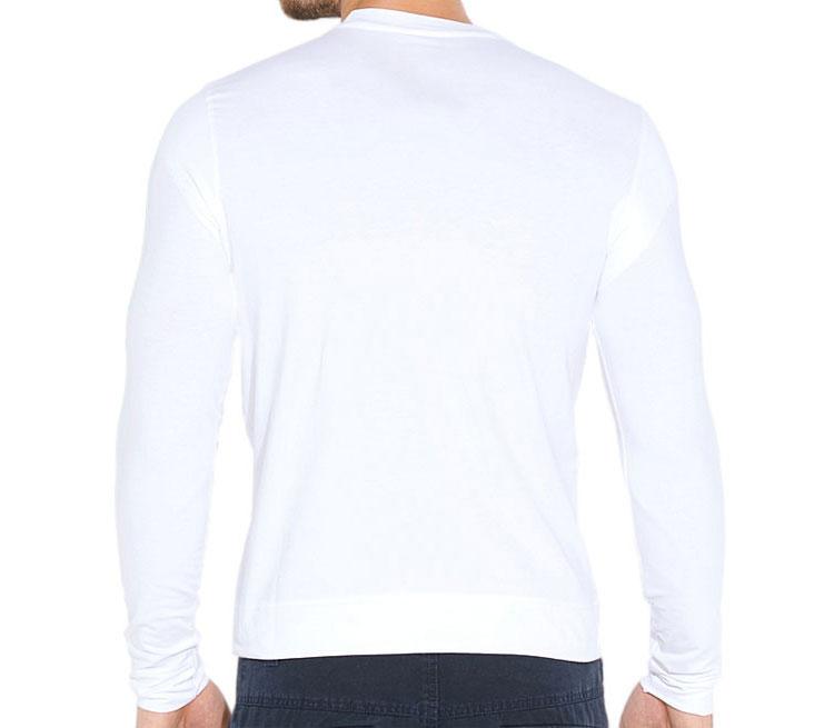 Чак Норис мужская футболка с длинным рукавом стрейч (цвет: белый, 92% хлопок, 8% лайкра)