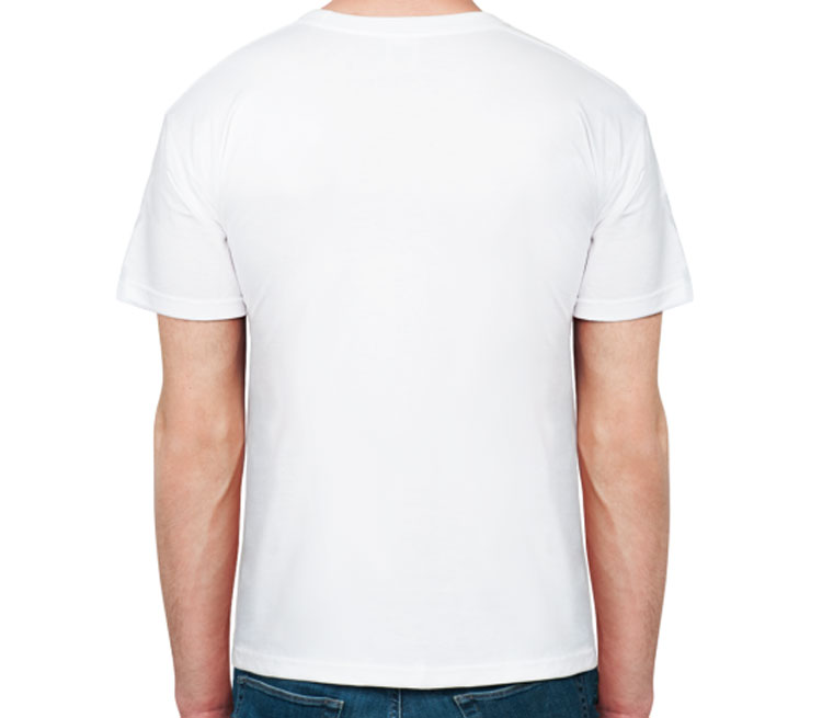 Бэтмен мужская футболка с коротким рукавом (цвет: белый, 50% хлопок, 50% полиэстер)