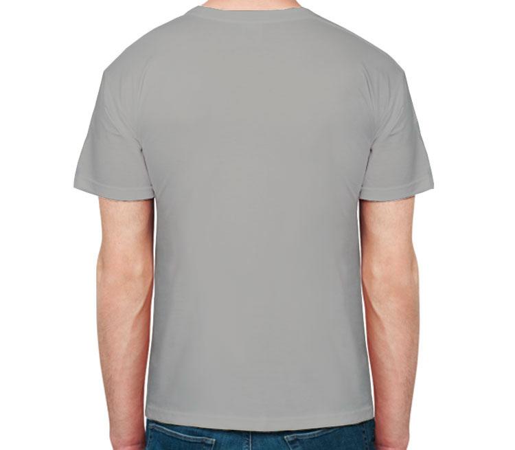 Черный волк мужская футболка с коротким рукавом (цвет: меланж)