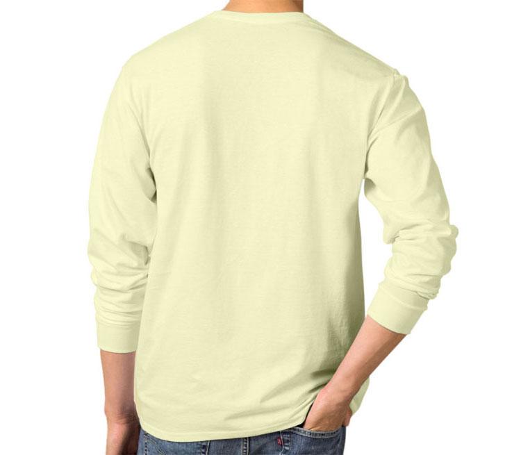 Бэтмен под одеждой мужская футболка с длинным рукавом (цвет: слоновая кость, 100% хлопок)
