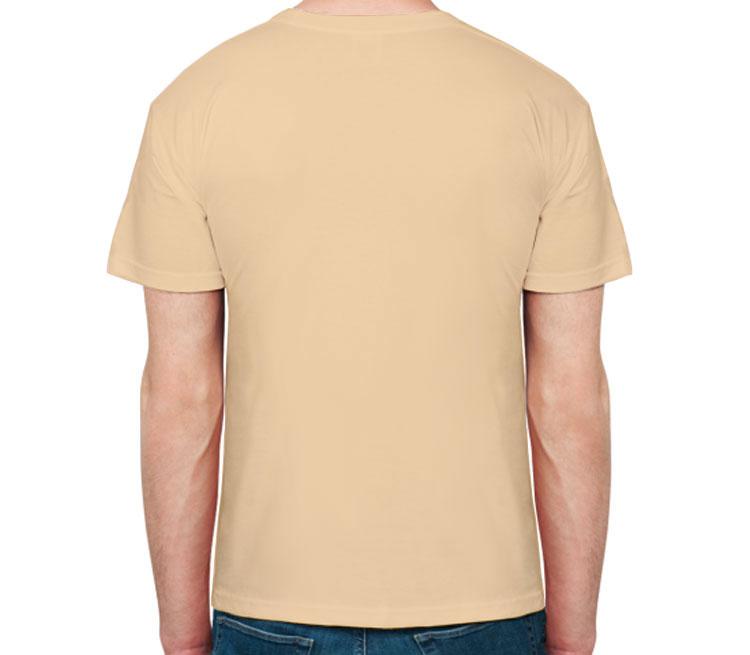Далек - Exterminate мужская футболка с коротким рукавом (цвет: бежевый, 100% хлопок)