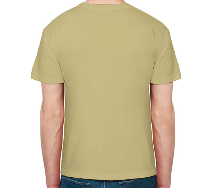 Виски мужская футболка с коротким рукавом (цвет: песочный)