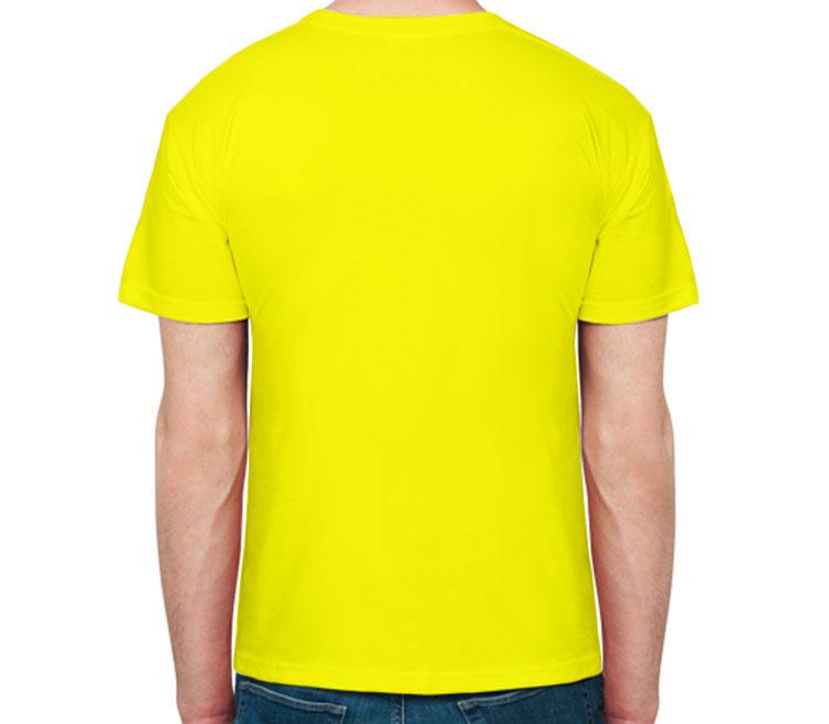 Дарт Вейдер в костюме мужская футболка с коротким рукавом (цвет: лимон, 100% хлопок)