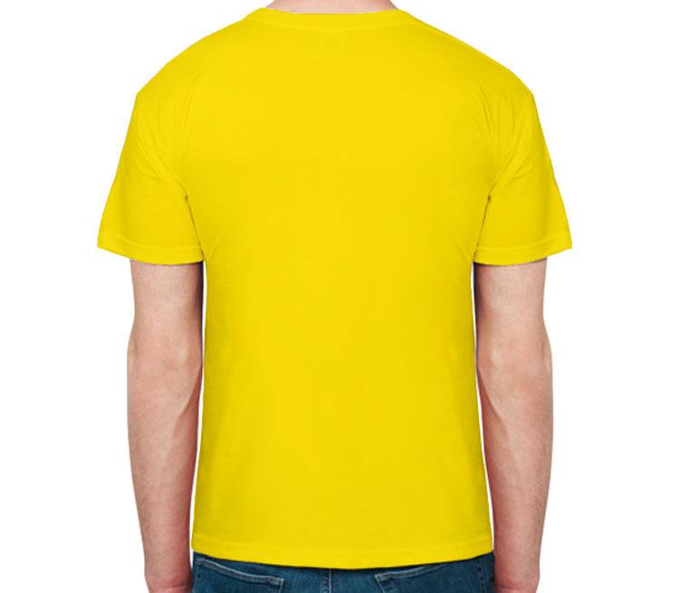 Совушки мужская футболка с коротким рукавом (цвет: светло желтый, 100% хлопок)