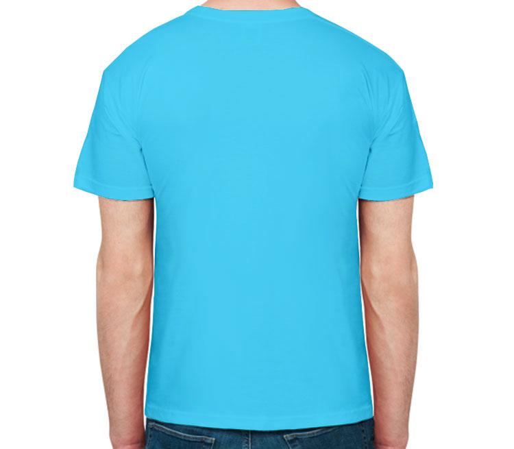 Каратель мужская футболка с коротким рукавом (цвет: небесный)