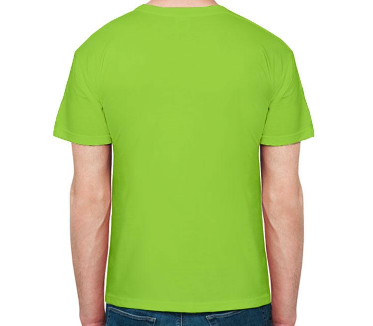 Инь Янь Дракон мужская футболка с коротким рукавом (цвет: салатовый)