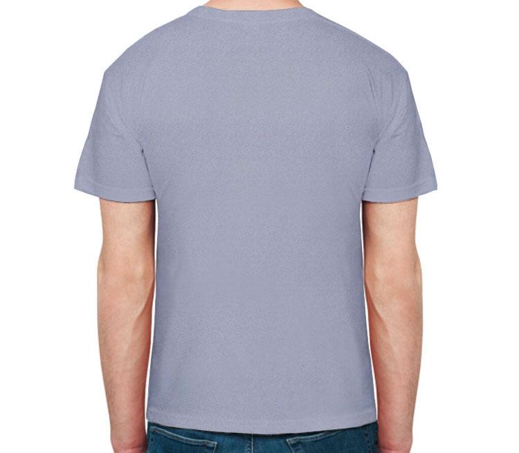 Поющий кот мужская футболка с коротким рукавом (цвет: голубой меланж, 50% хлопок, 50% полиэстер)