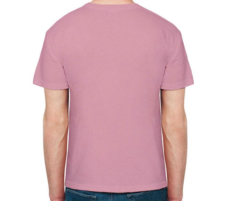 Черная кошечка мужская футболка с коротким рукавом (цвет: розовый меланж)