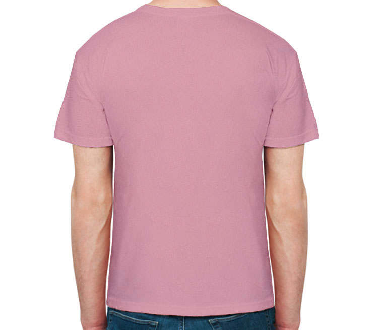 Super Муж мужская футболка с коротким рукавом (цвет: розовый меланж)