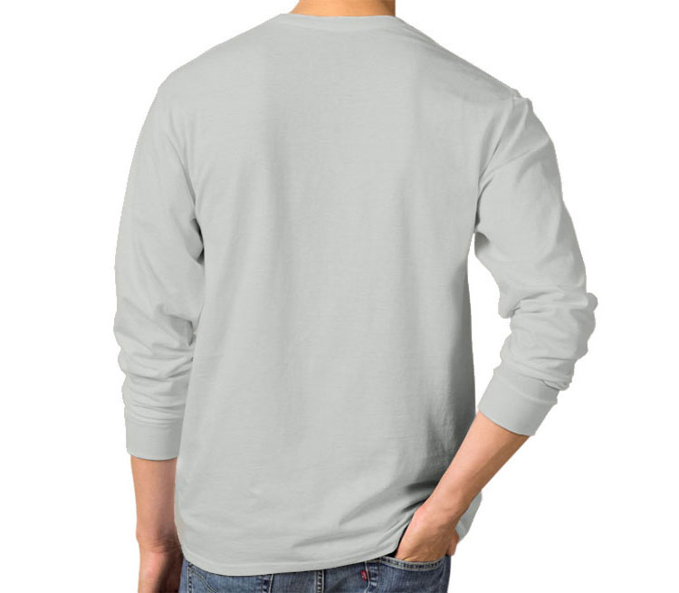 Gangsta panda мужская футболка с длинным рукавом (цвет: серебро, 100% хлопок)