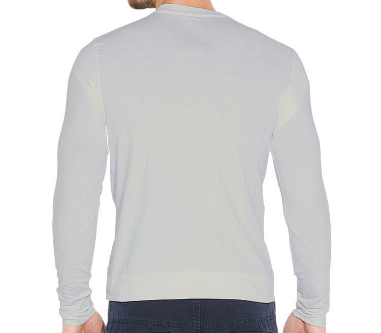 Anonymous мужская футболка с длинным рукавом стрейч (цвет: серебро)