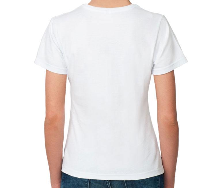 Каратель женская футболка с коротким рукавом (цвет: белый)