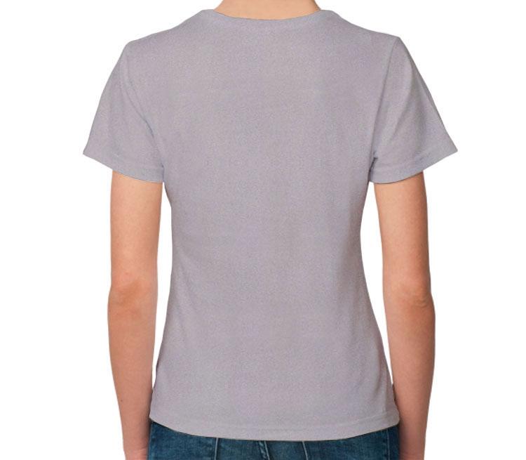 Большая кошка женская футболка с коротким рукавом (цвет: серый меланж, 50% хлопок, 50% полиэстер)