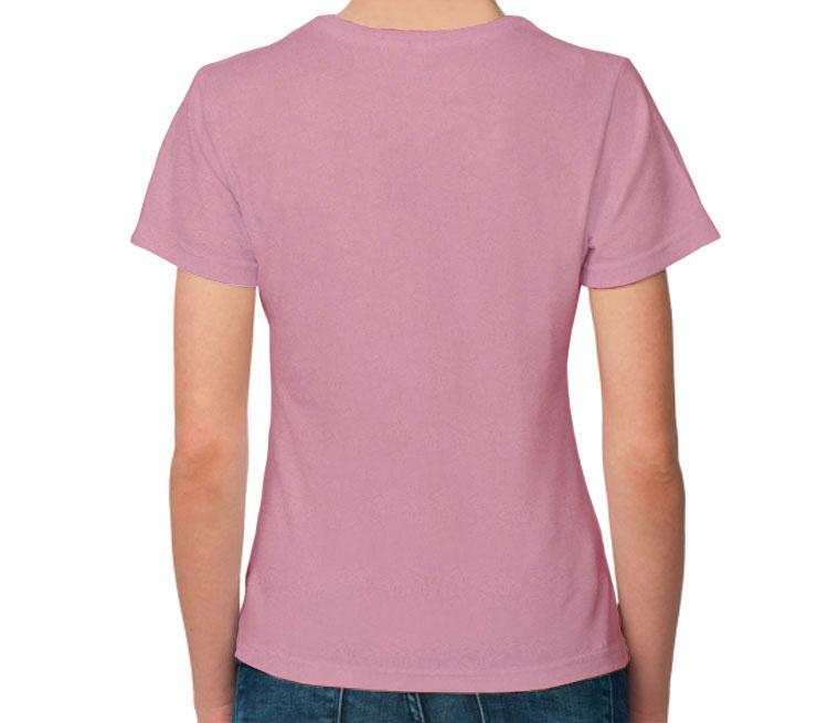 Хаски женская футболка с коротким рукавом (цвет: розовый меланж)