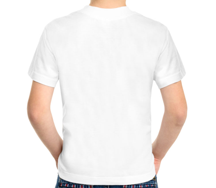 Чак Норис детская футболка с коротким рукавом (цвет: белый, 50% хлопок, 50% полиэстер)