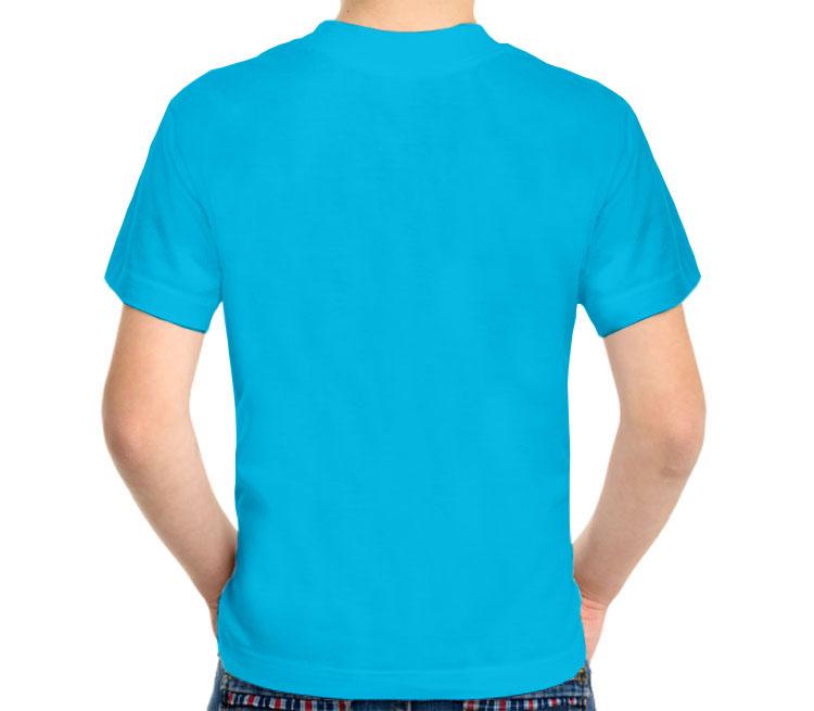 Сердечко детская футболка с коротким рукавом (цвет: голубой)
