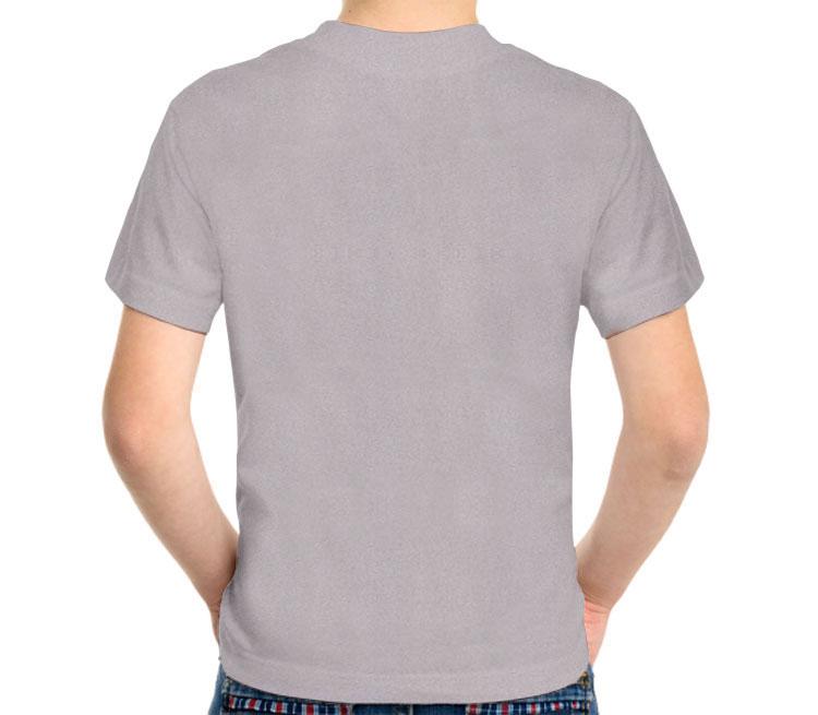 Татуировка дракон детская футболка с коротким рукавом (цвет: серый меланж, 50% хлопок, 50% полиэстер)