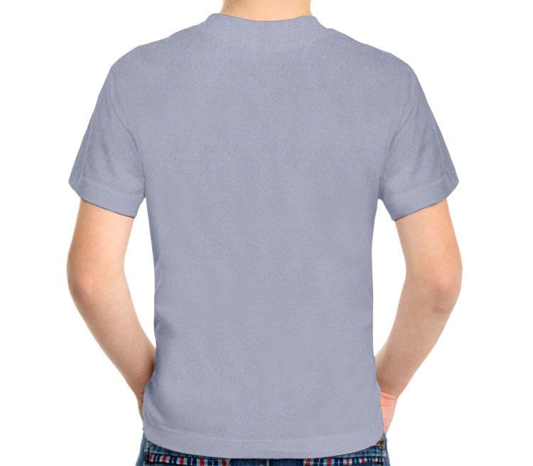 Мистер Фриз детская футболка с коротким рукавом (цвет: голубой меланж, 50% хлопок, 50% полиэстер)