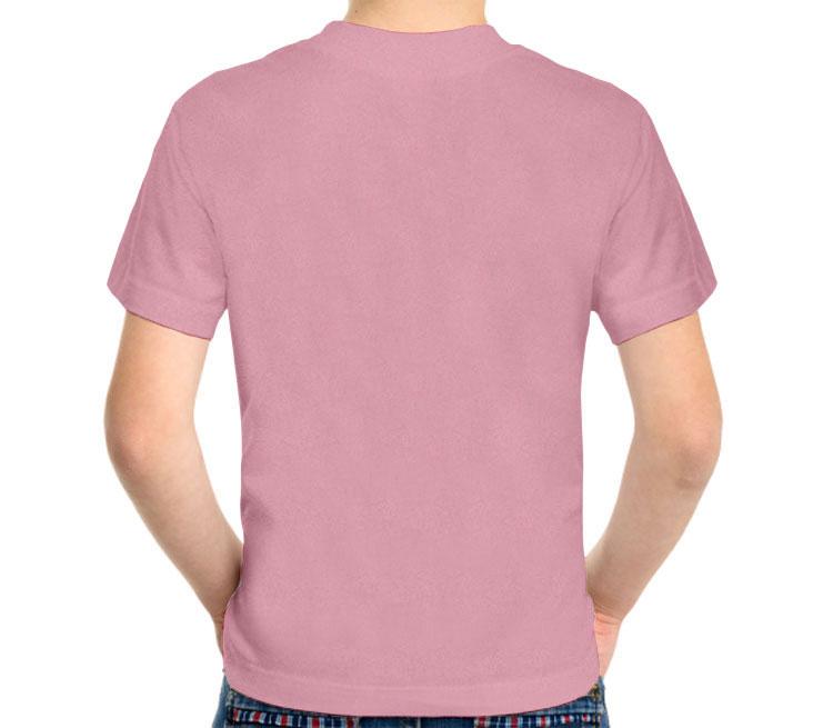 Дракон на мече детская футболка с коротким рукавом (цвет: розовый меланж, 50% хлопок, 50% полиэстер)